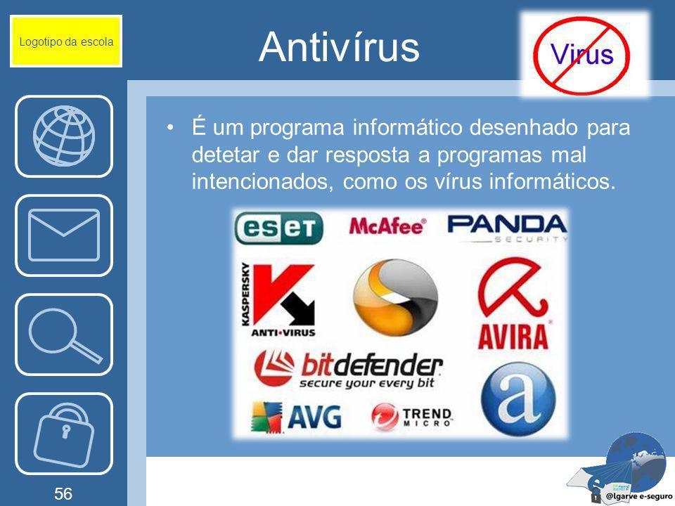 Logotipo da escola Antivírus.