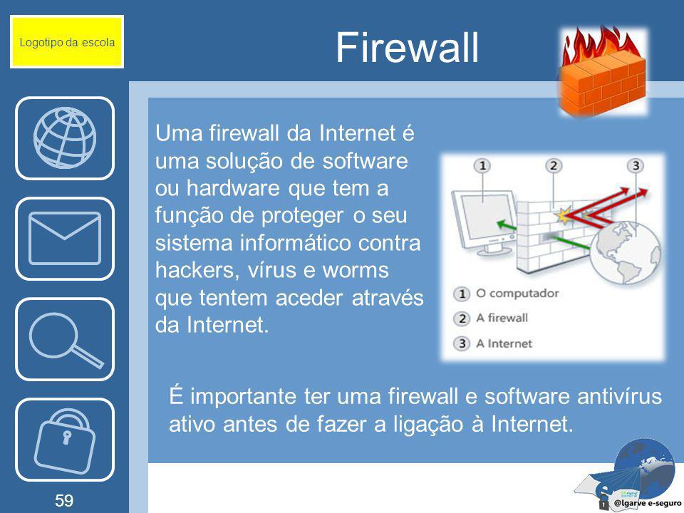 Logotipo da escola Firewall.