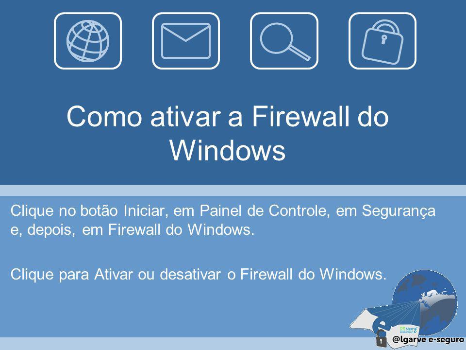 Como ativar a Firewall do Windows