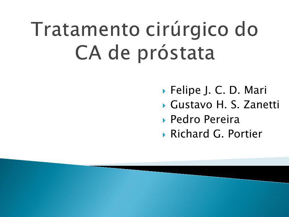 Tratamento cirúrgico do CA de próstata