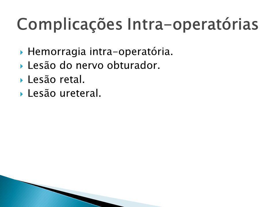 Complicações Intra-operatórias