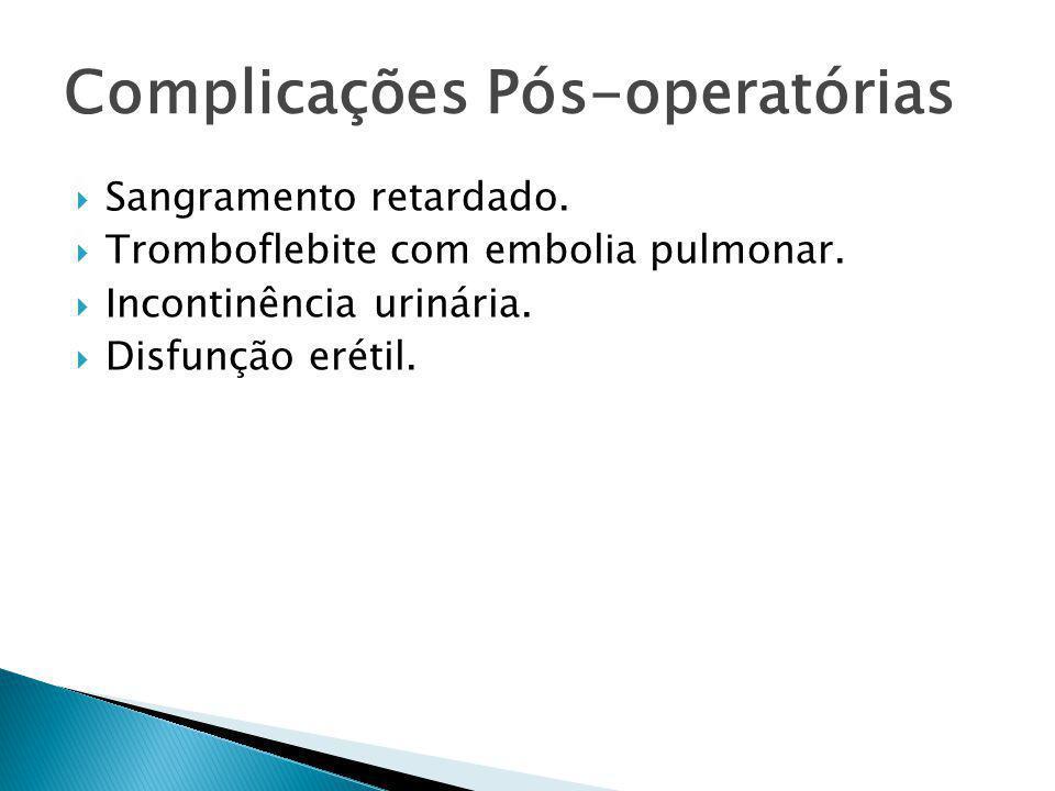 Complicações Pós-operatórias