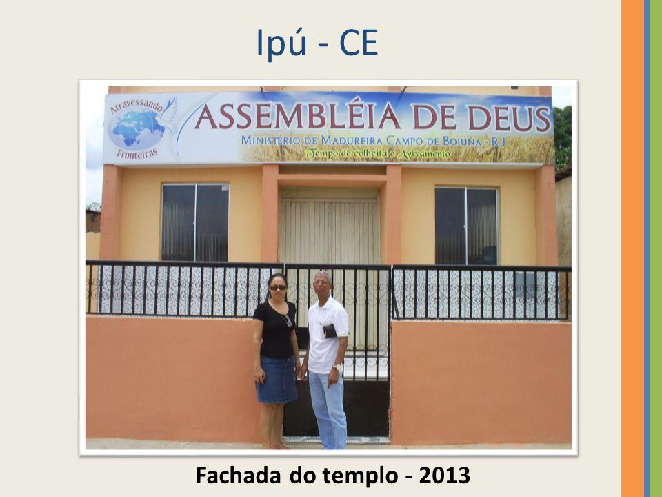 Ipú - CE Fachada do templo - 2013