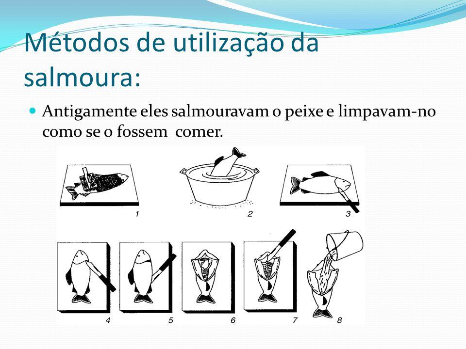 Métodos de utilização da salmoura: