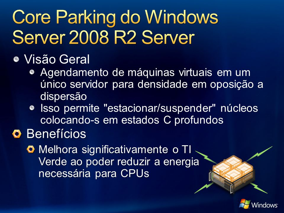 Core Parking do Windows Server 2008 R2 Server