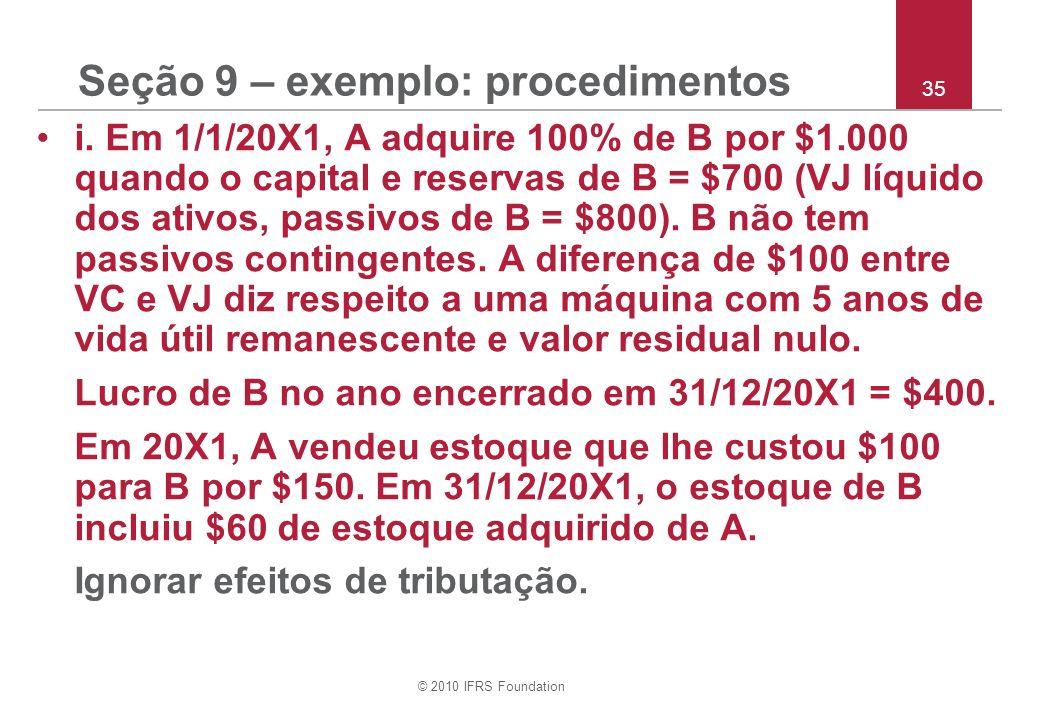 Seção 9 – exemplo: procedimentos