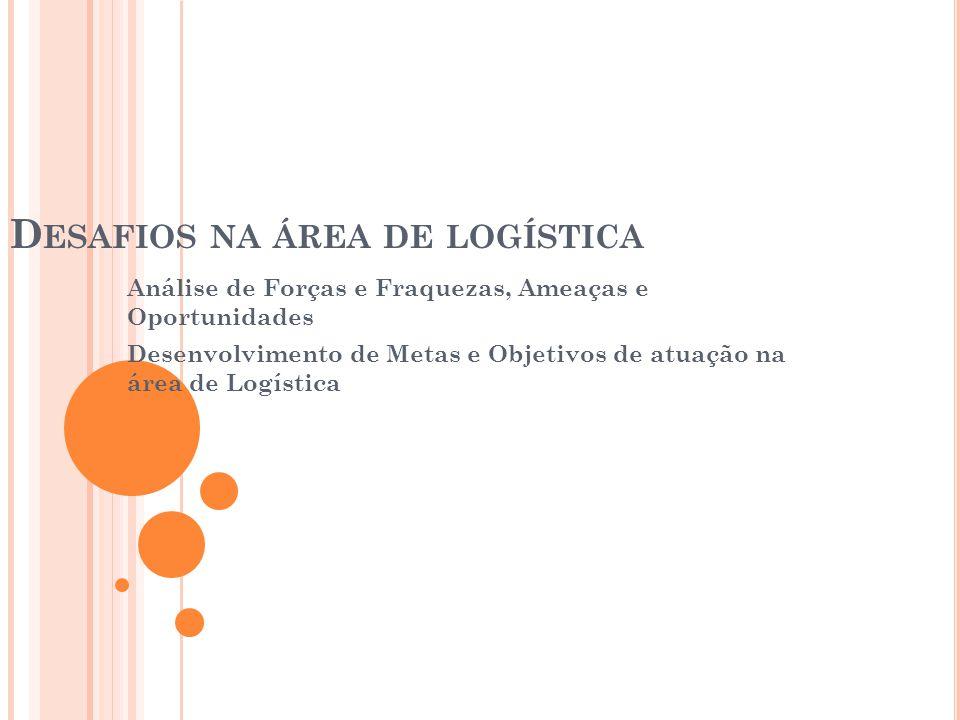 Desafios na área de logística