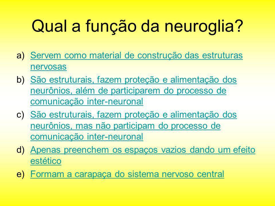 Qual a função da neuroglia
