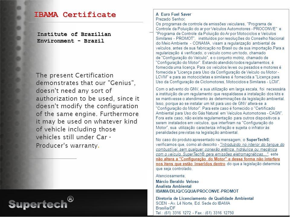 IBAMA Certificate