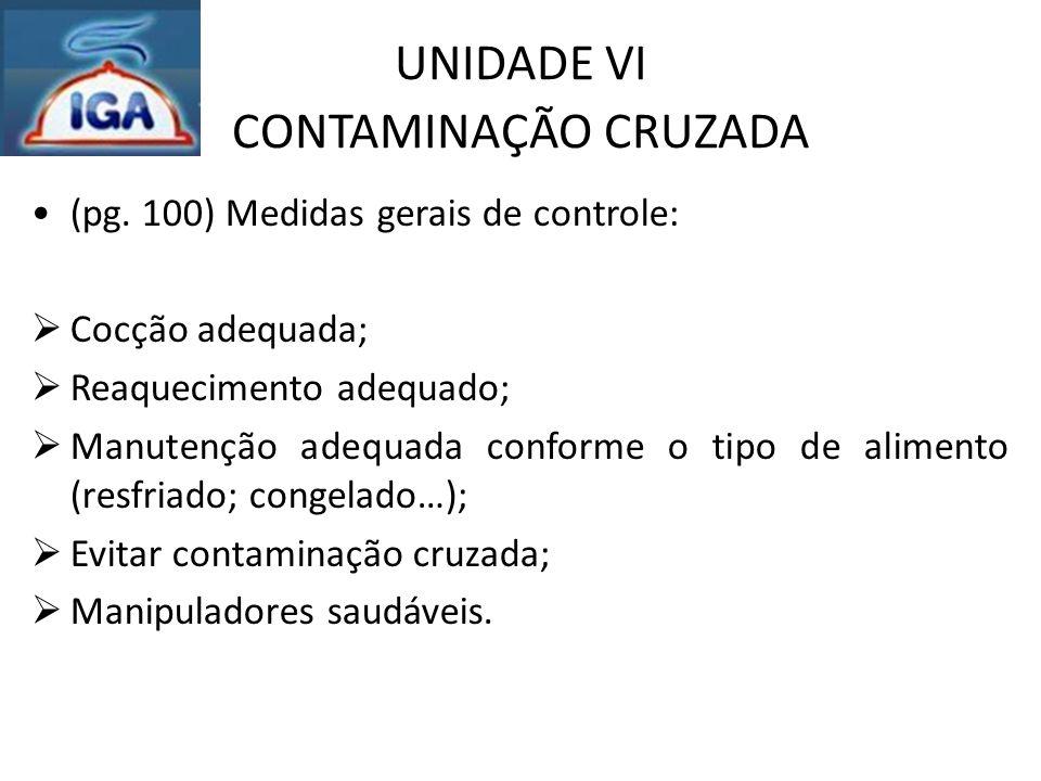 UNIDADE VI CONTAMINAÇÃO CRUZADA