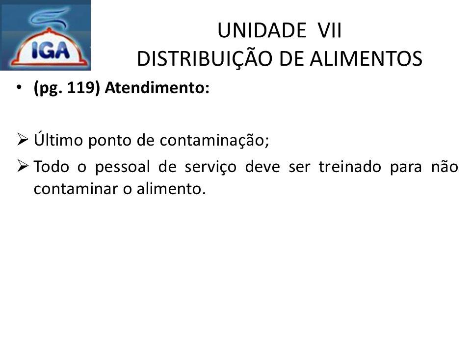 UNIDADE VII DISTRIBUIÇÃO DE ALIMENTOS