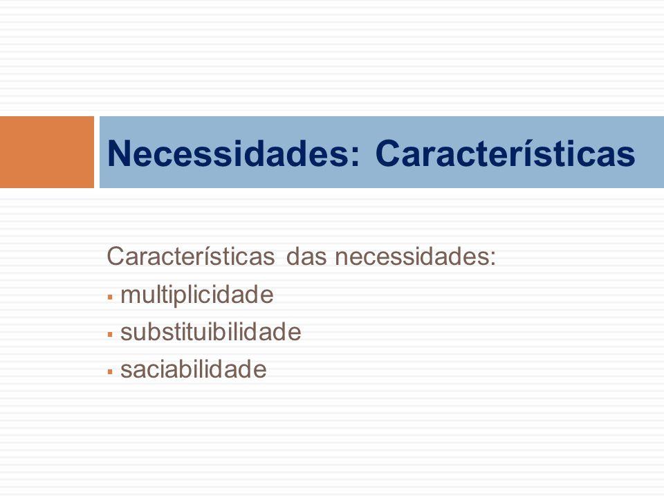 Necessidades: Características