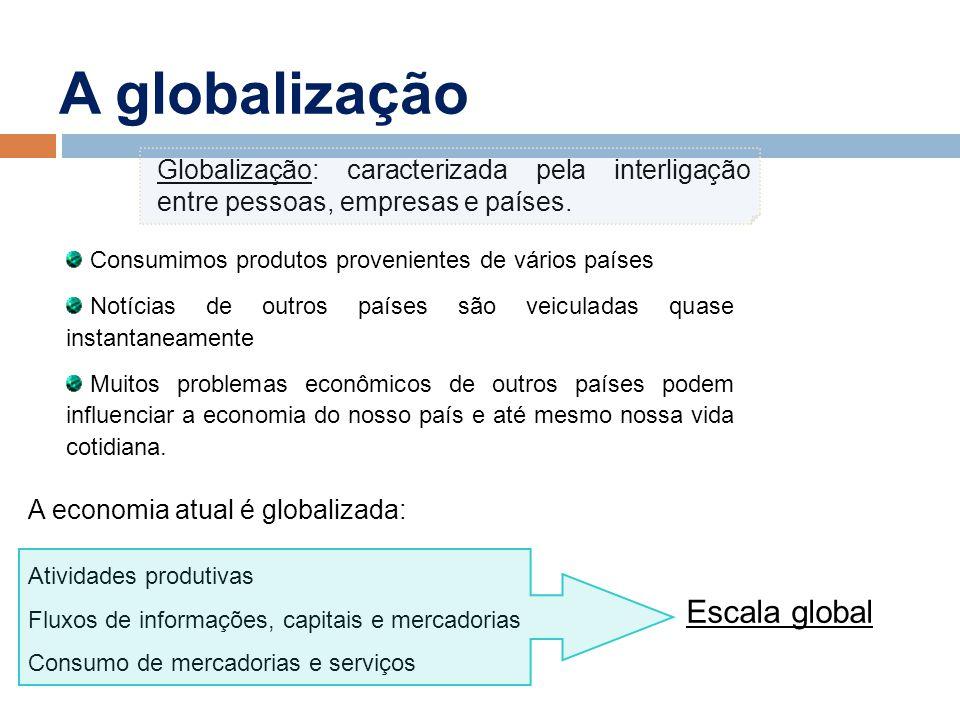 A globalização Escala global