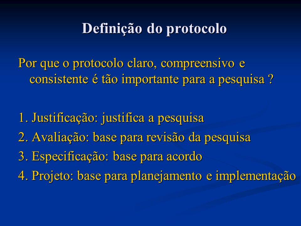 Definição do protocolo