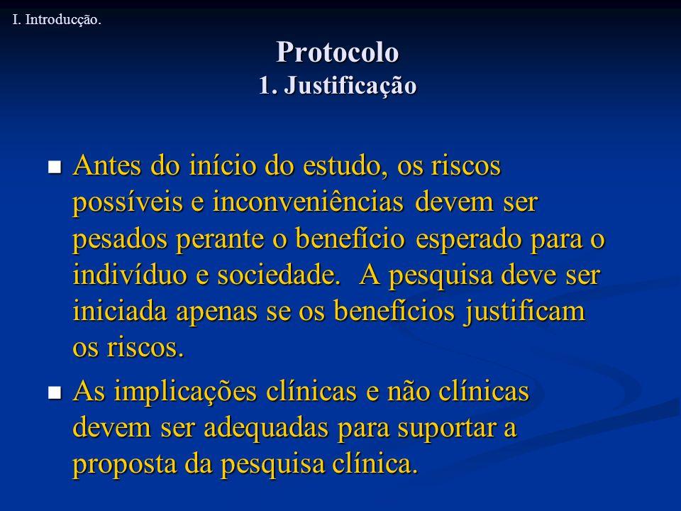 Protocolo 1. Justificação