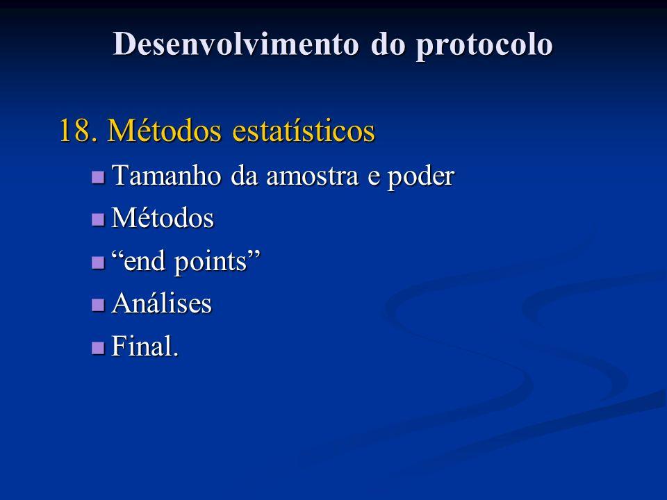 Desenvolvimento do protocolo
