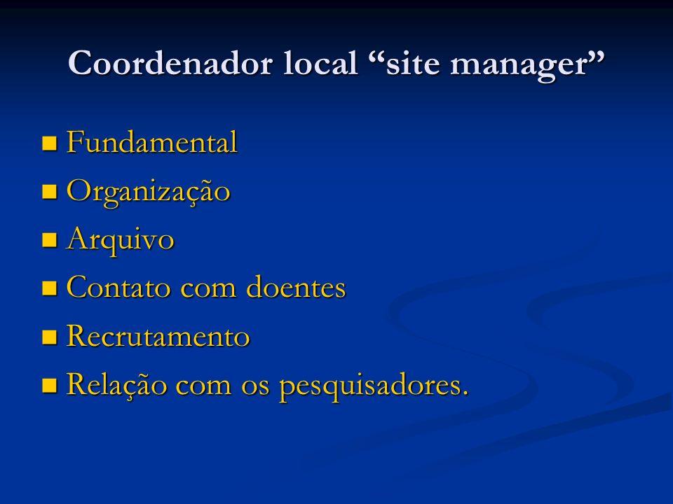 Coordenador local site manager
