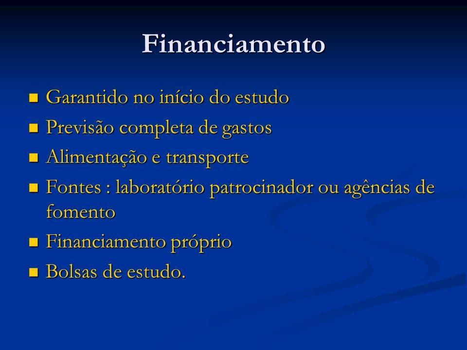 Financiamento Garantido no início do estudo
