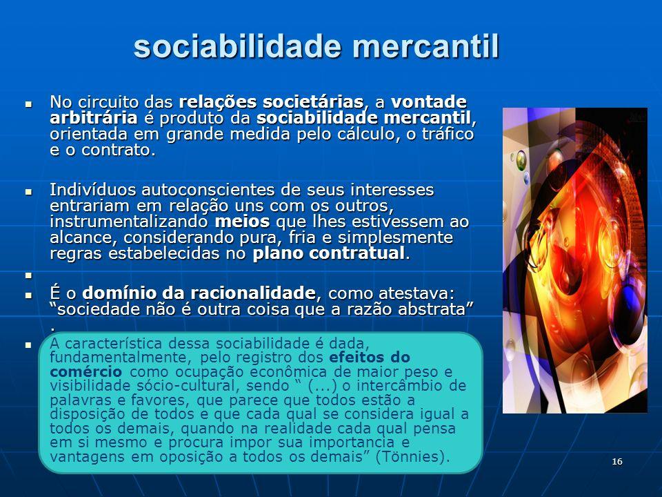 sociabilidade mercantil