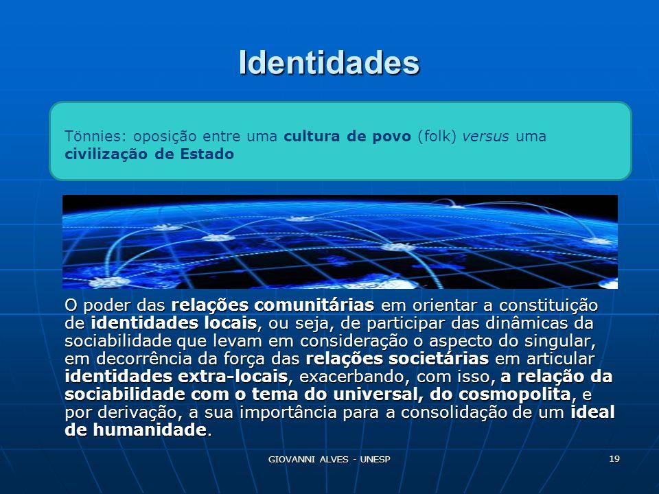 Identidades Tönnies: oposição entre uma cultura de povo (folk) versus uma civilização de Estado.