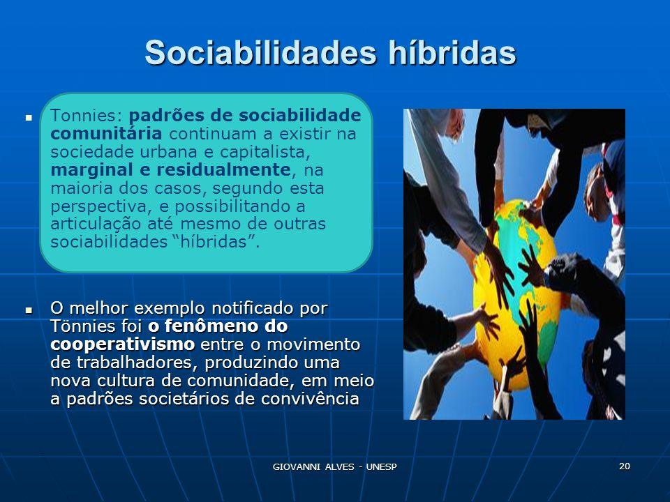Sociabilidades híbridas