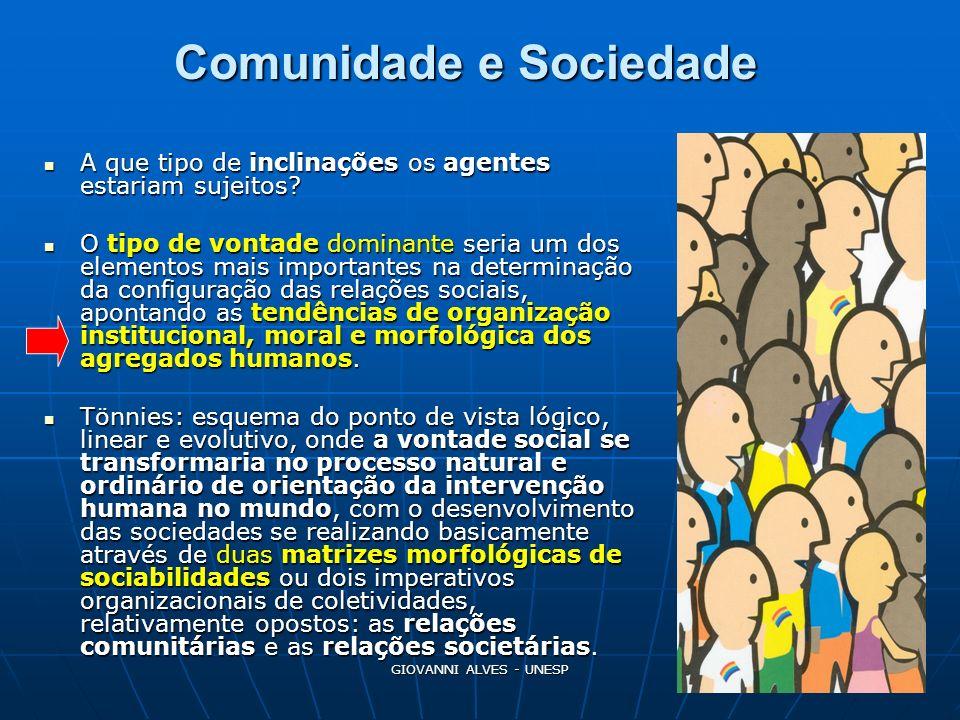 Comunidade e Sociedade