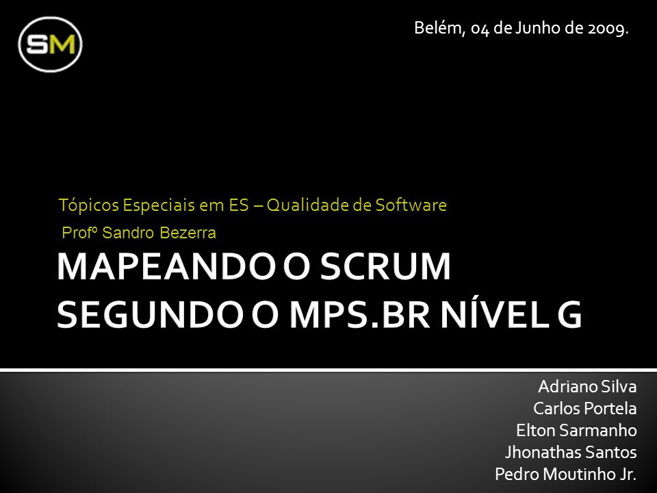 MAPEANDO O SCRUM SEGUNDO O MPS.BR NÍVEL G
