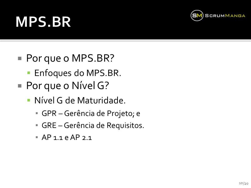 MPS.BR Por que o MPS.BR Por que o Nível G Enfoques do MPS.BR.