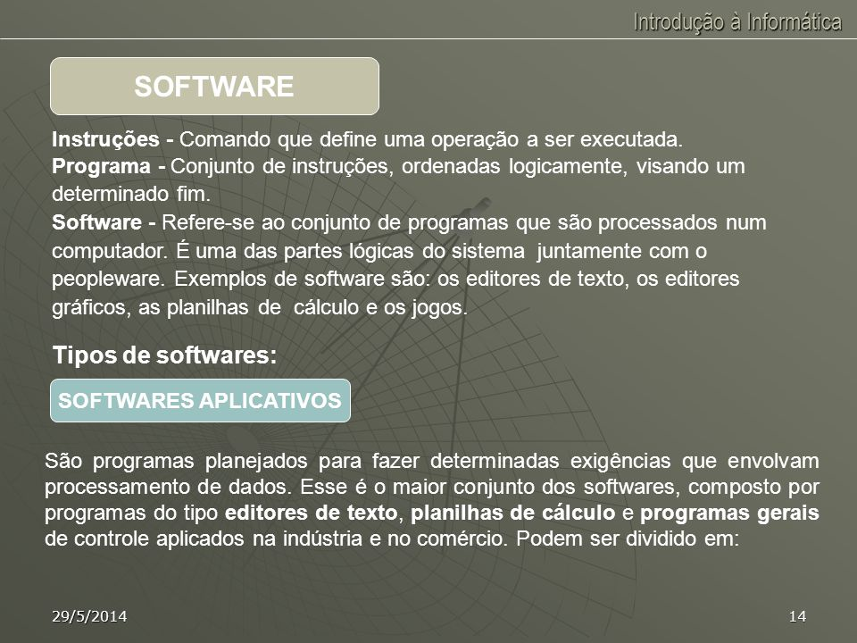 SOFTWARES APLICATIVOS