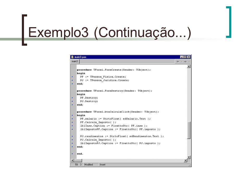 Exemplo3 (Continuação...)