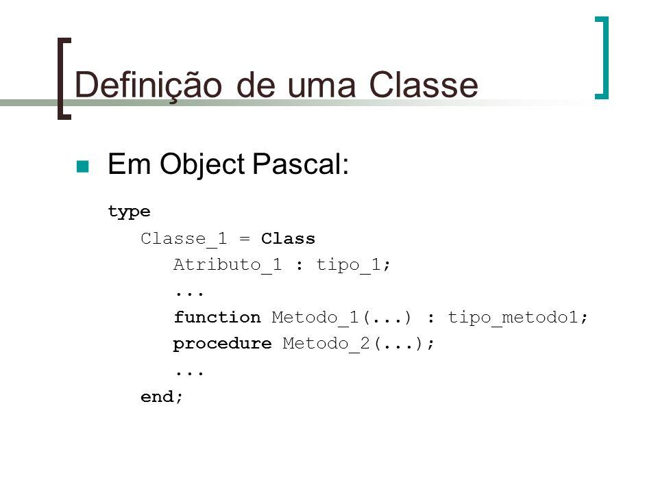 Definição de uma Classe