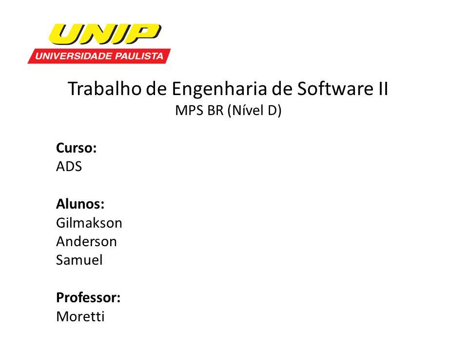 Trabalho de Engenharia de Software II