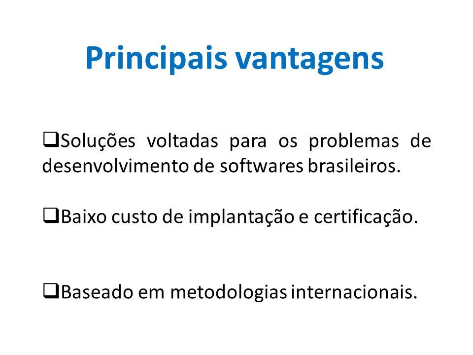 Principais vantagens Soluções voltadas para os problemas de desenvolvimento de softwares brasileiros.
