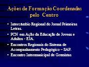 Ações de Formação Coordenadas pelo Centro