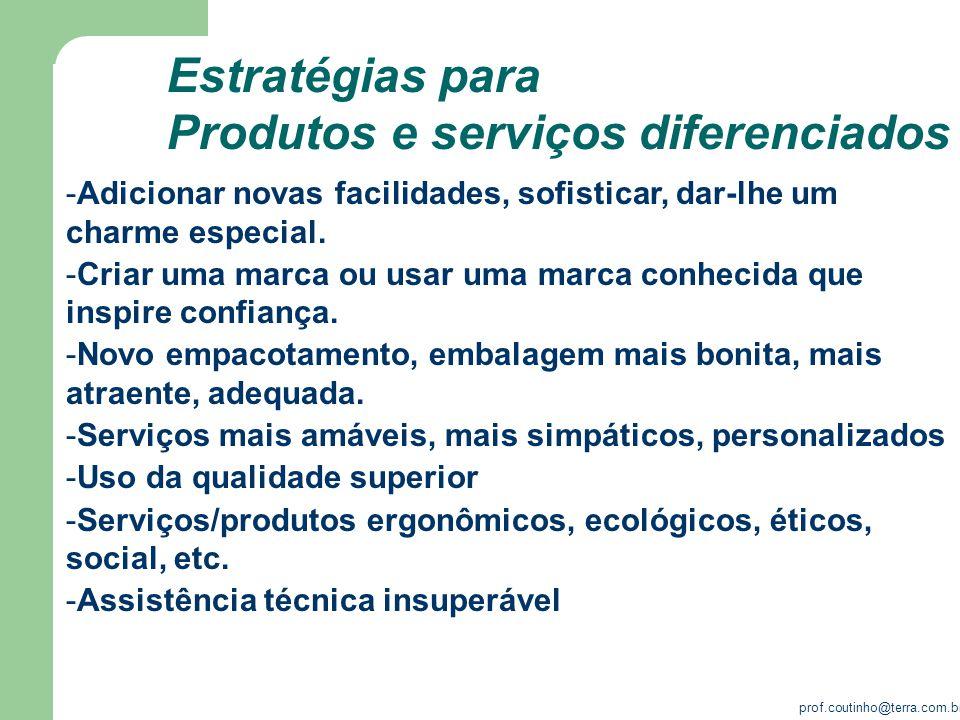 Produtos e serviços diferenciados
