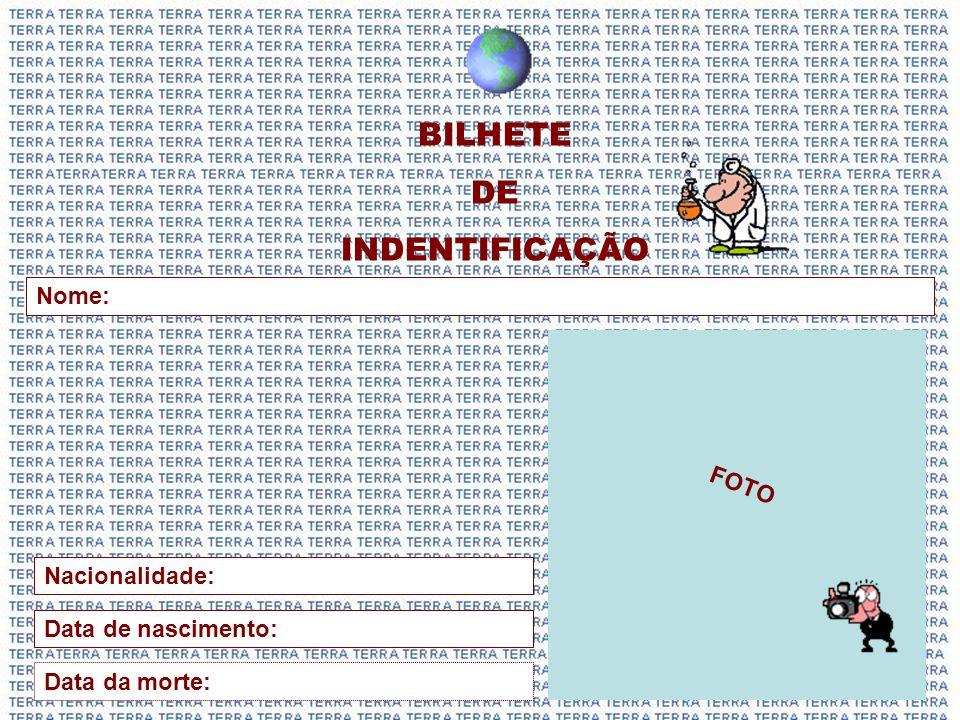 BILHETE DE INDENTIFICAÇÃO