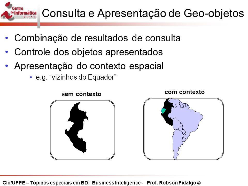 Consulta e Apresentação de Geo-objetos