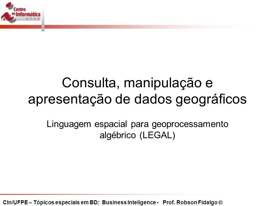 Consulta, manipulação e apresentação de dados geográficos