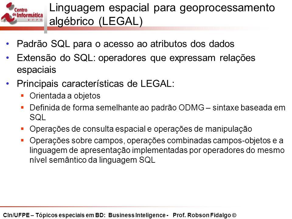 Linguagem espacial para geoprocessamento algébrico (LEGAL)