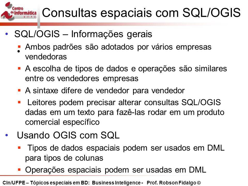 Consultas espaciais com SQL/OGIS