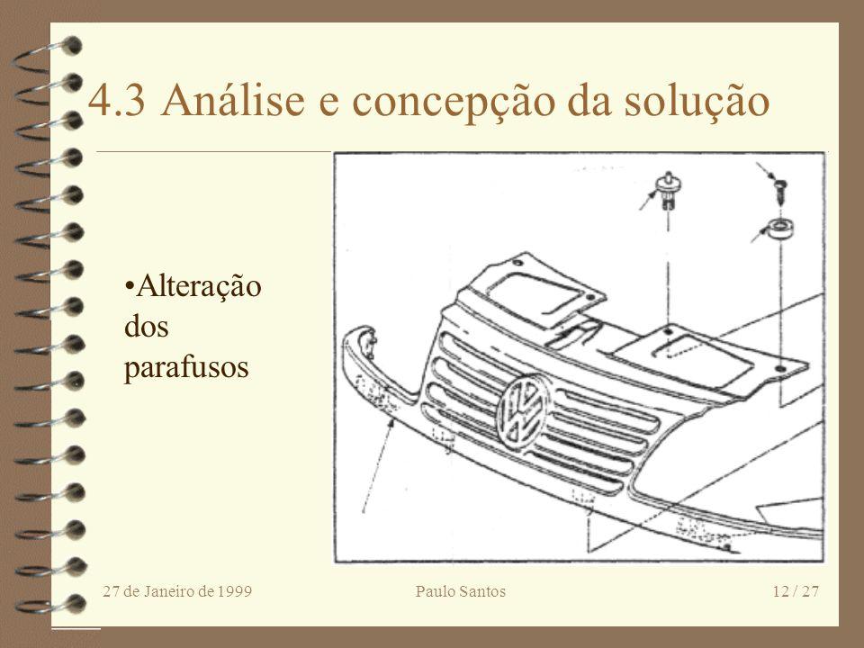 4.3 Análise e concepção da solução