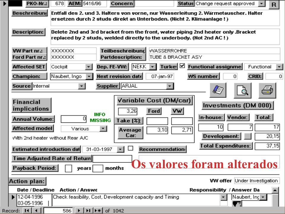 Exemplo da base de dados