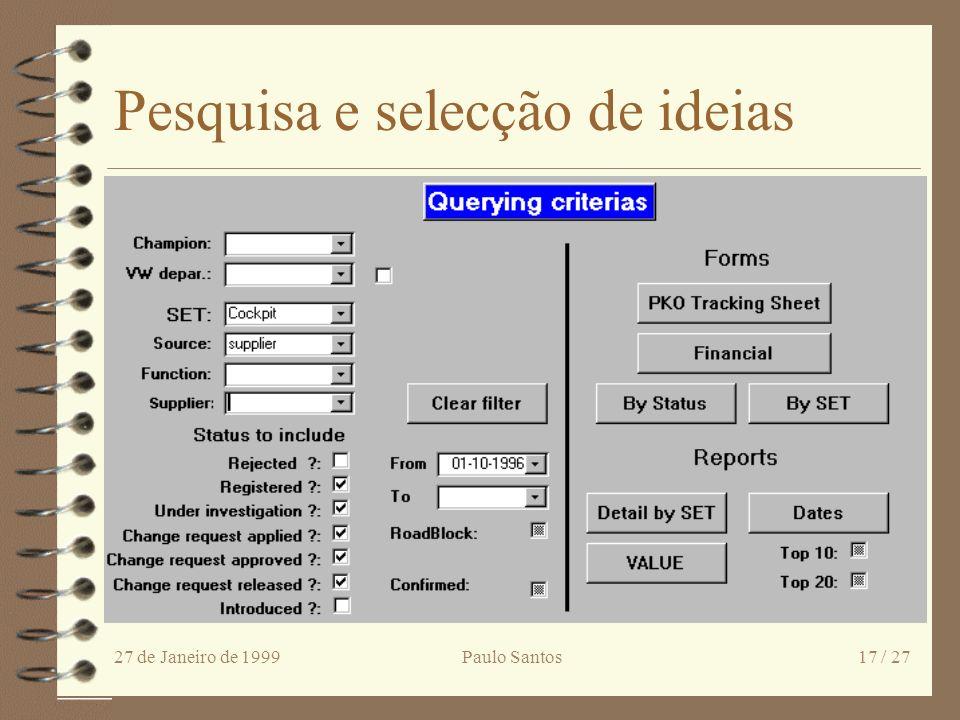 Pesquisa e selecção de ideias