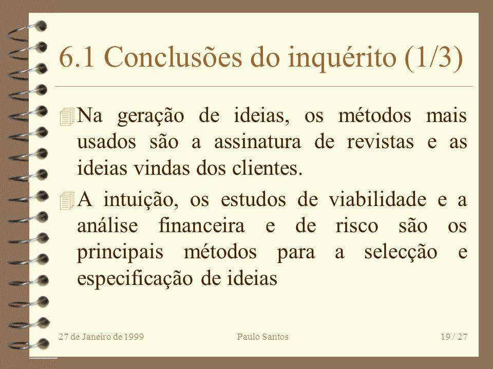 6.1 Conclusões do inquérito (1/3)