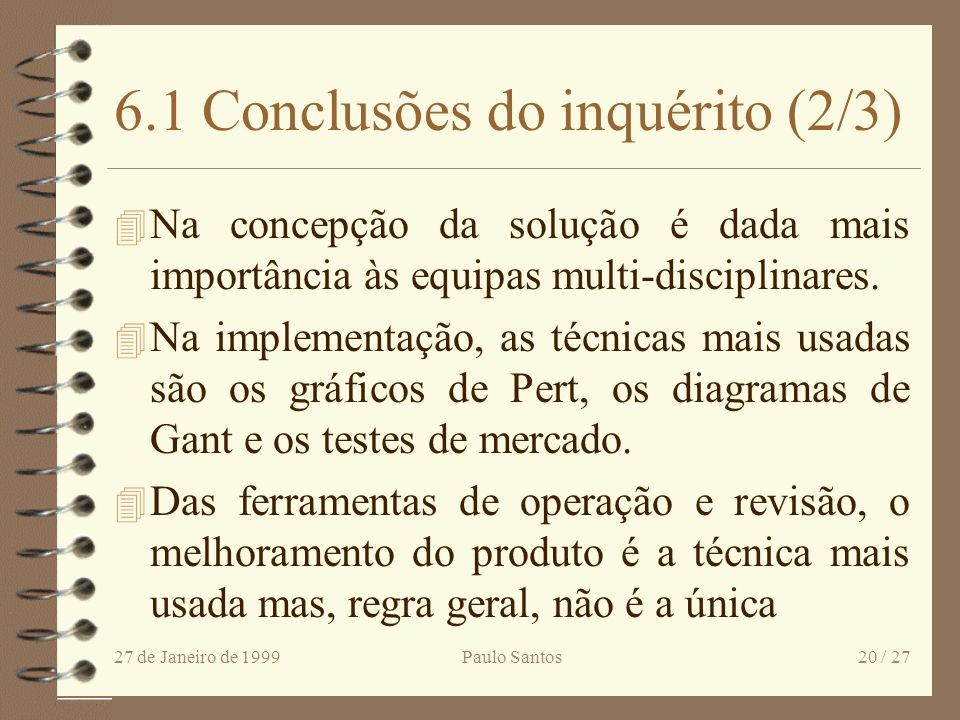 6.1 Conclusões do inquérito (2/3)