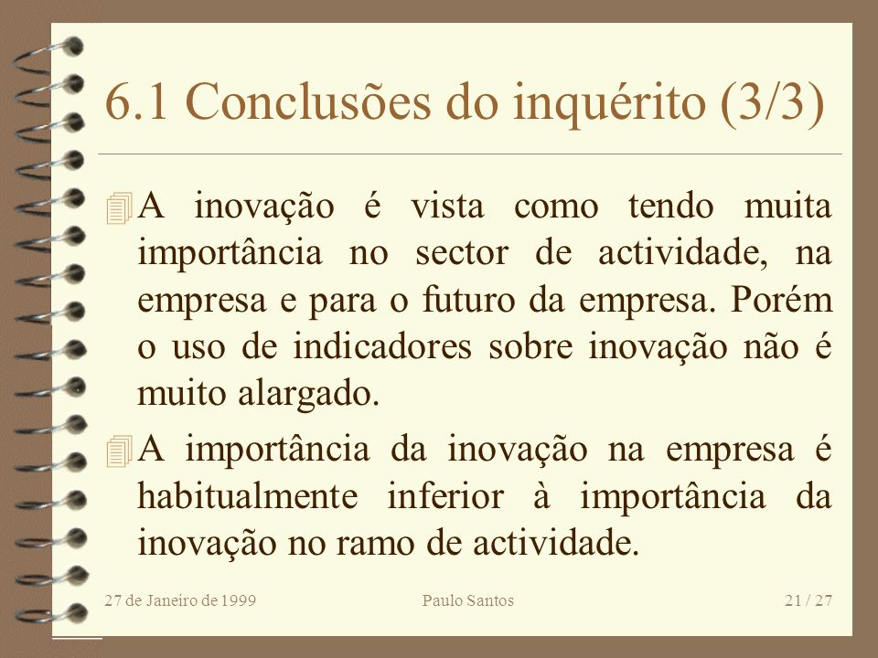 6.1 Conclusões do inquérito (3/3)