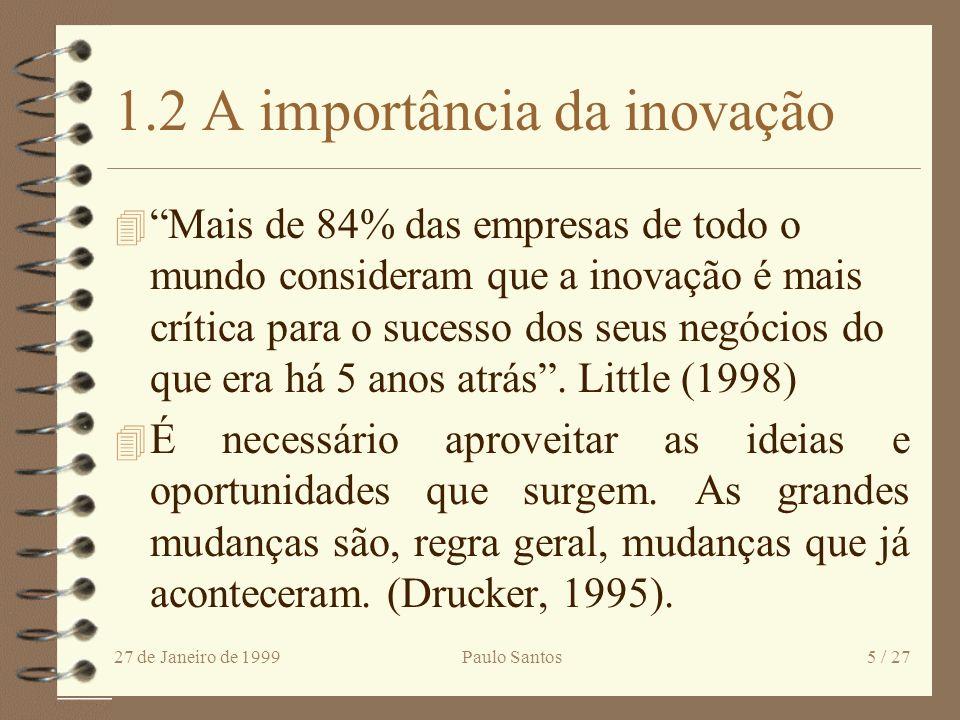 1.2 A importância da inovação