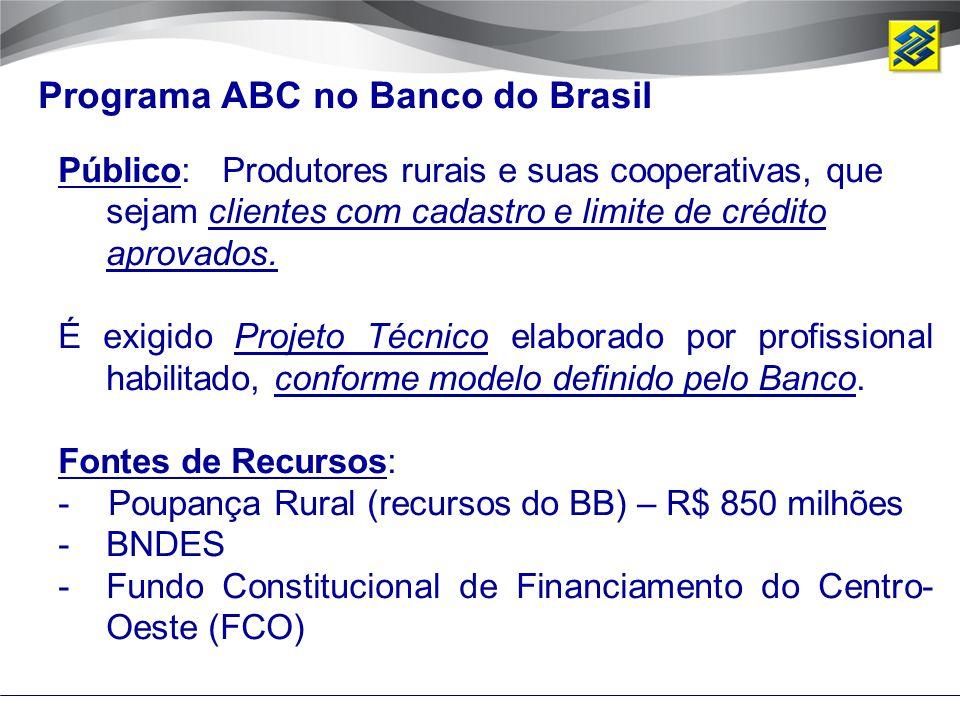 Programa ABC no Banco do Brasil