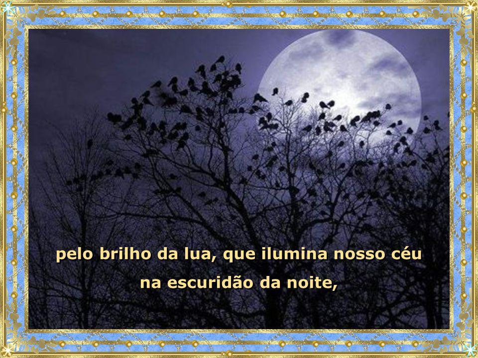 pelo brilho da lua, que ilumina nosso céu na escuridão da noite,