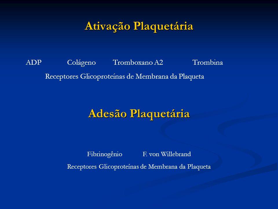 Ativação Plaquetária Adesão Plaquetária